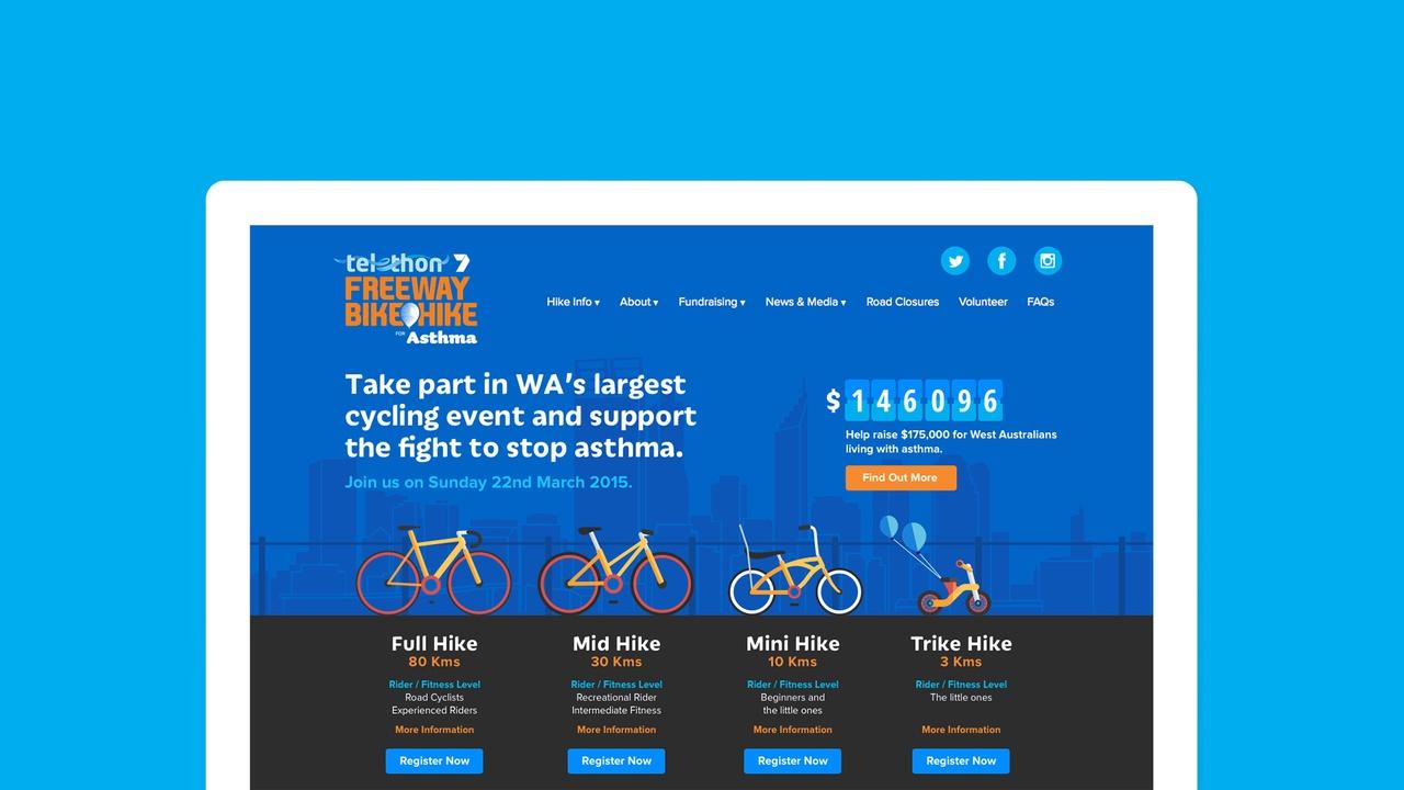 Freeway Bike Hike Homepage