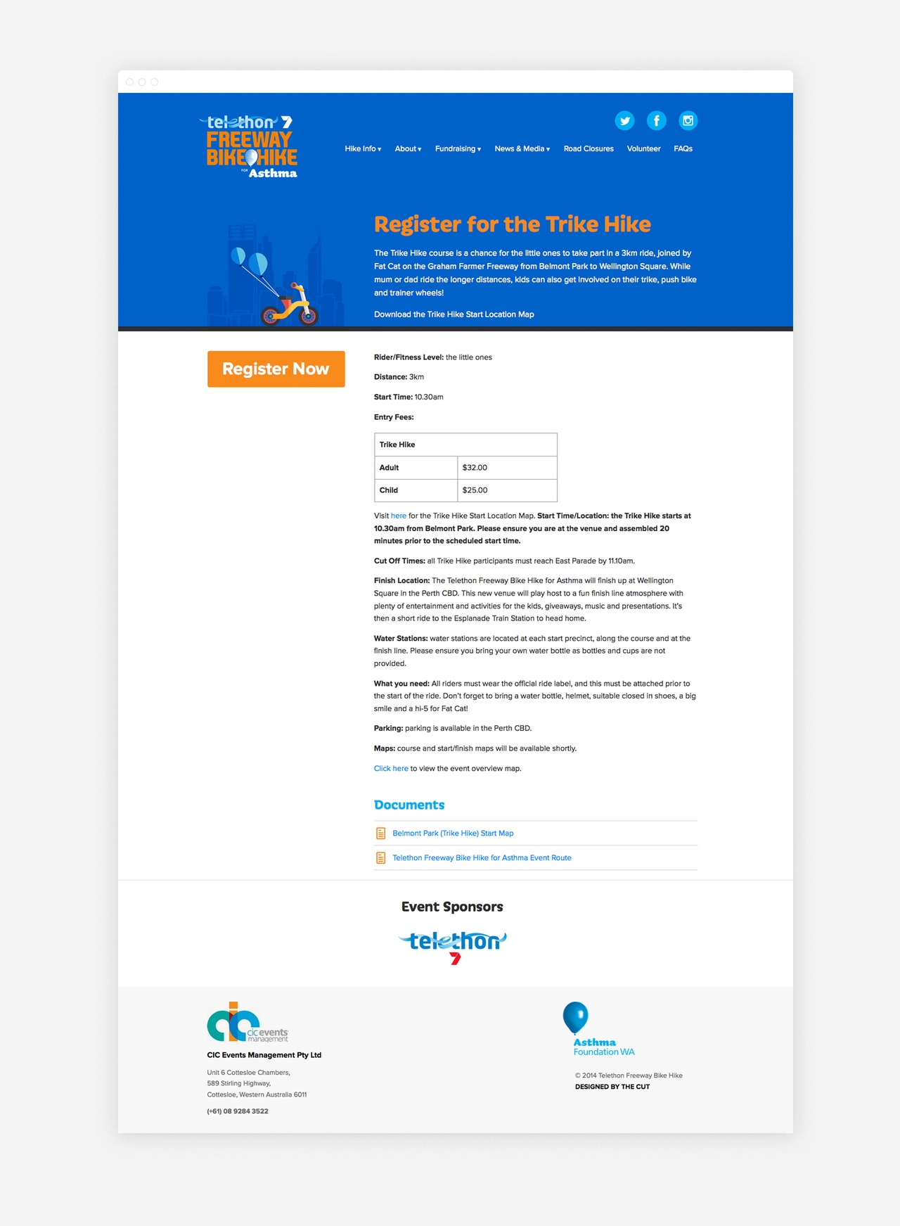 The Registration Page makes it easy to get involved