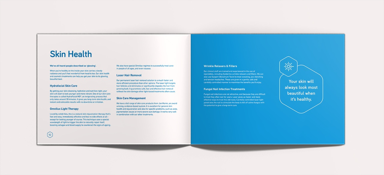 Concise text gives the brochure space