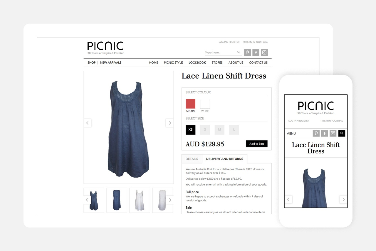 Website - Product Detail Page