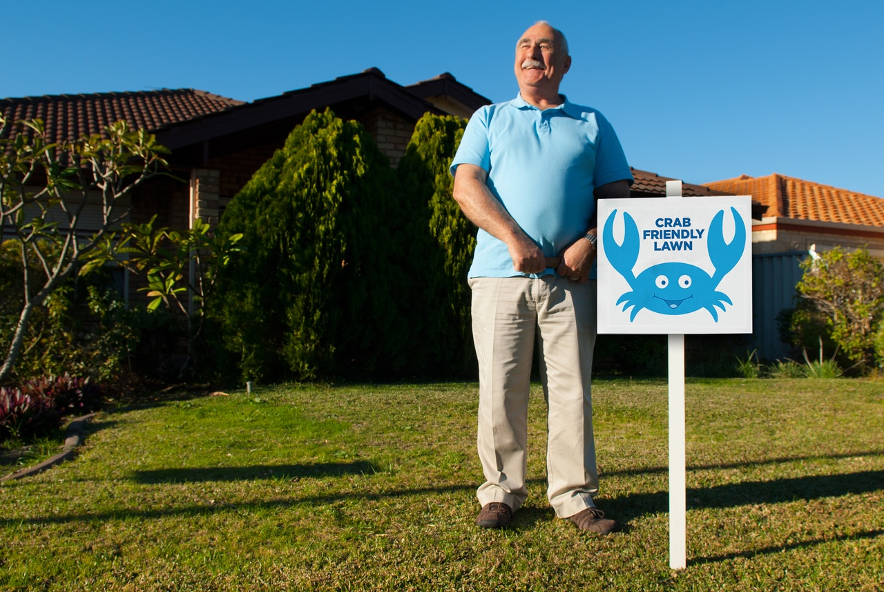 Key campaign messaging - keeping a 'Crab friendly' lawn