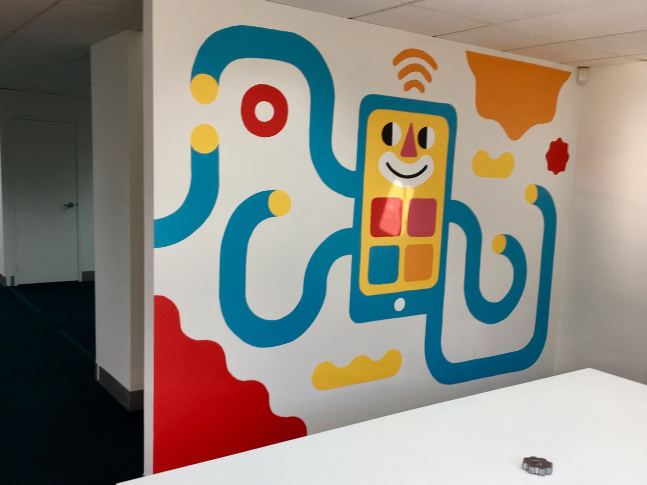 The final meeting room mural