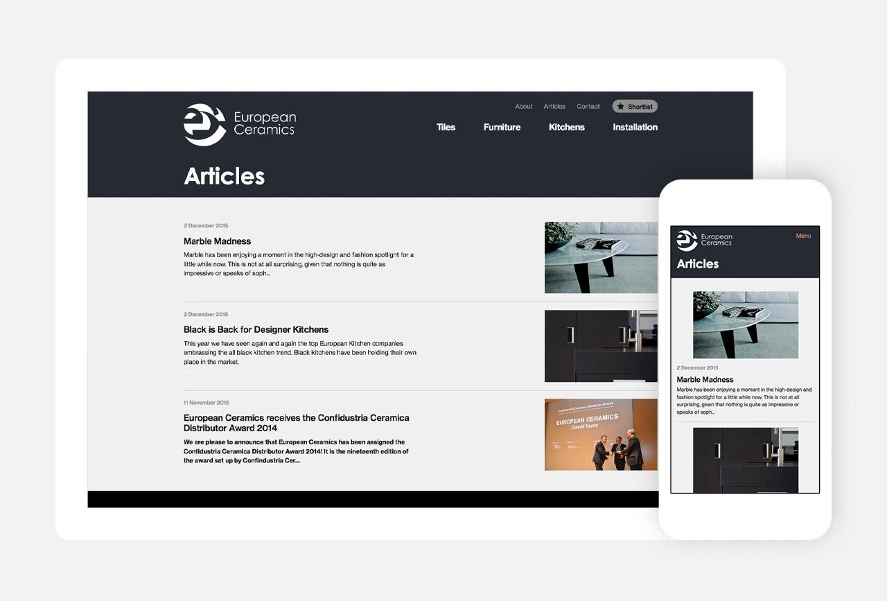 Homepage on Desktop & Mobile