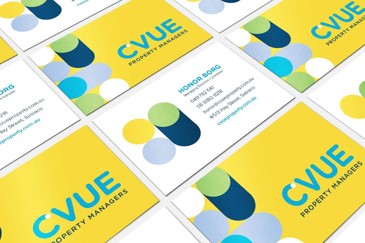 Cvue property rebranding projects the cut business cards where every person gets a unique pattern reheart Images