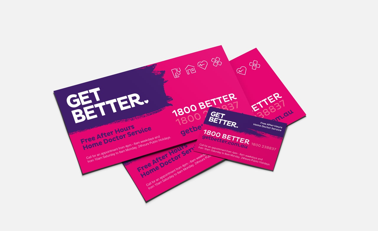 Get Better print collateral