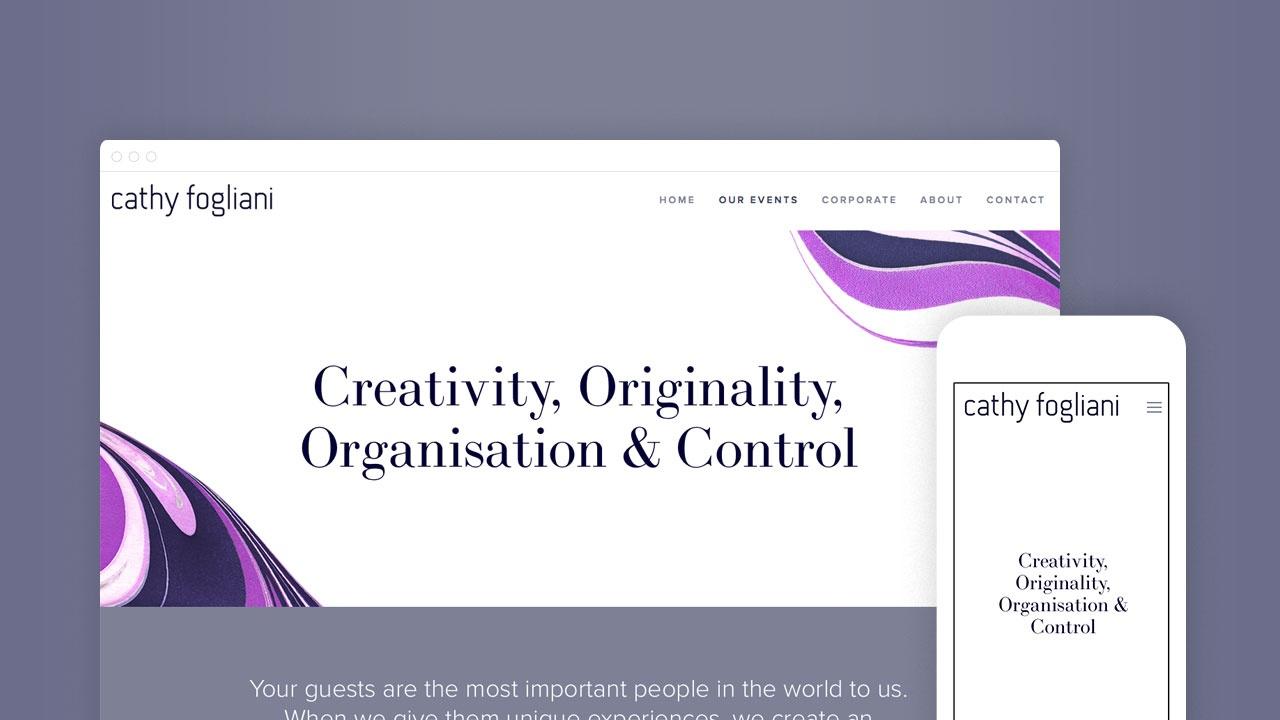 Homepage on desktop and mobile