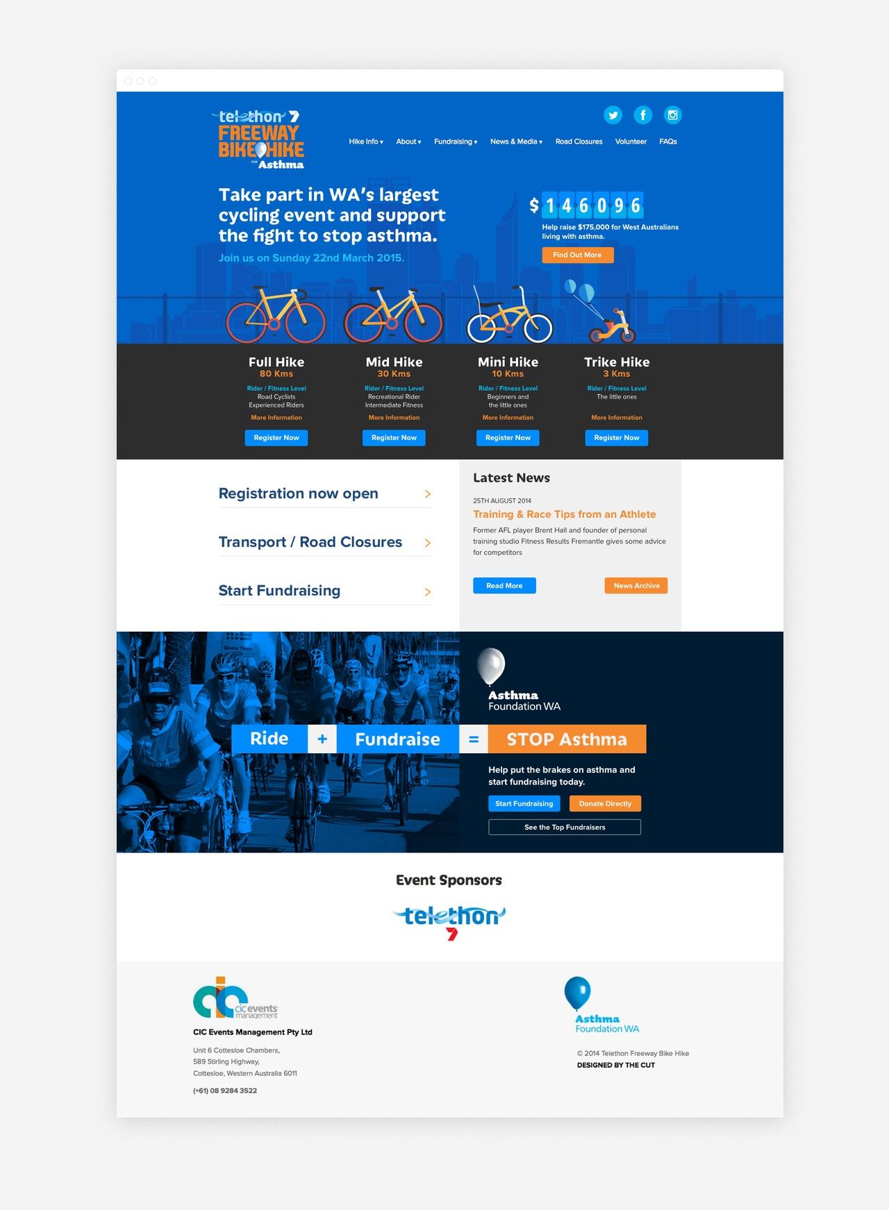 Freeway Bike Hike Homepage Design