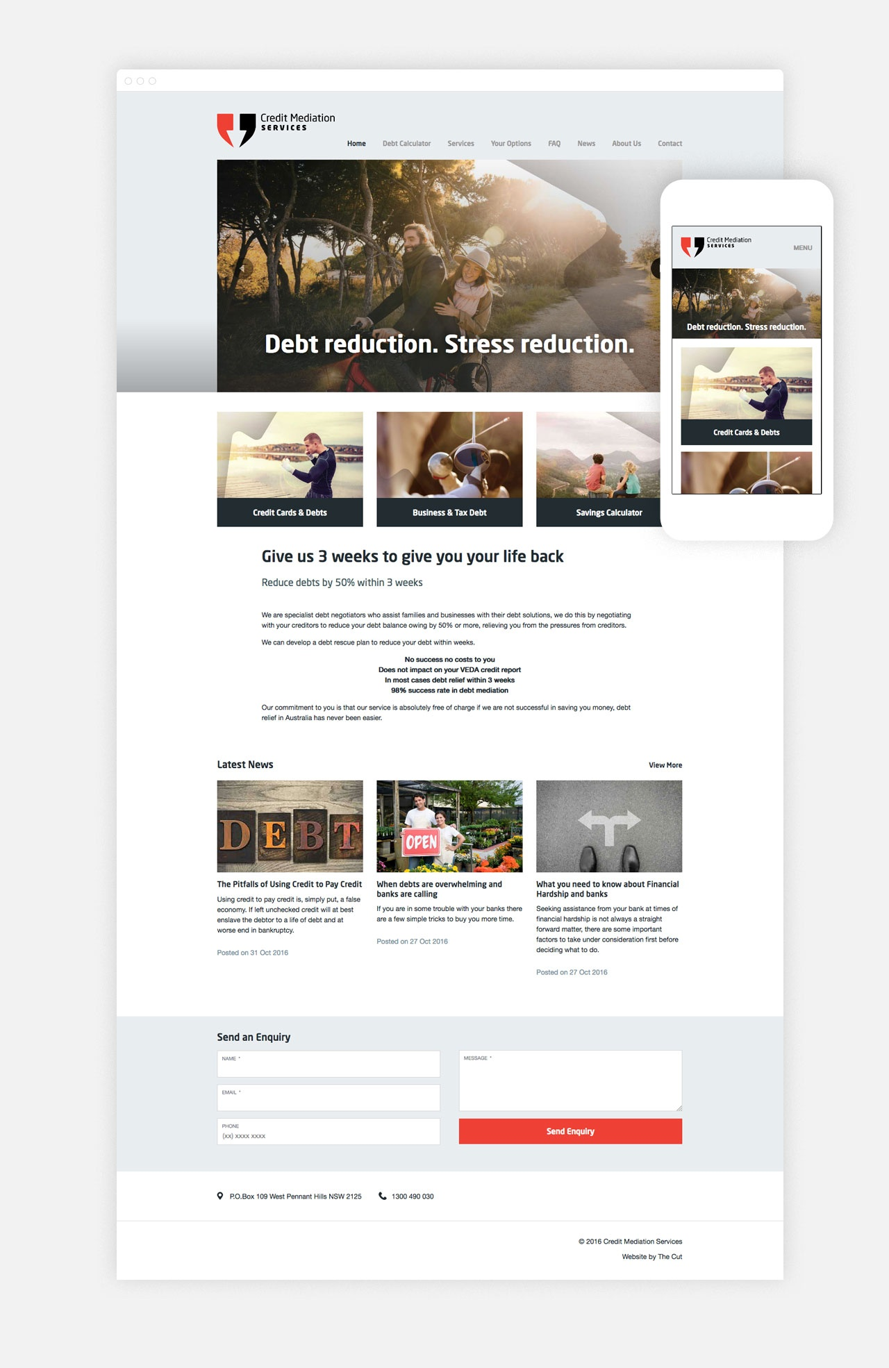 A smart new Homepage carries new brand images and messages