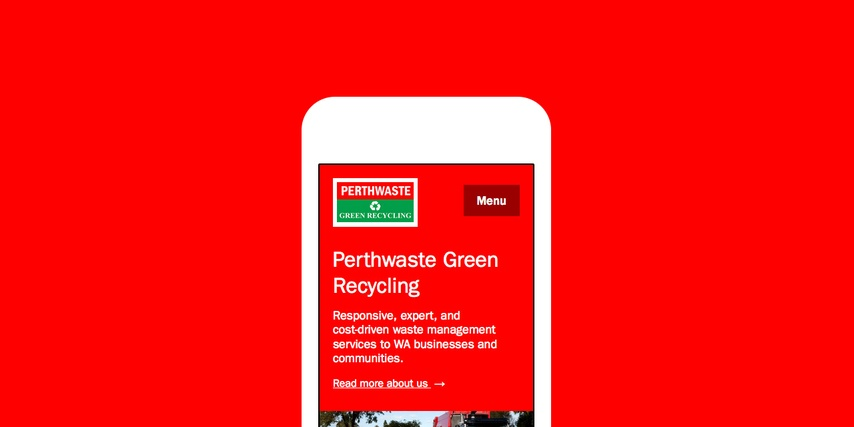 Perthwaste - Custom Website