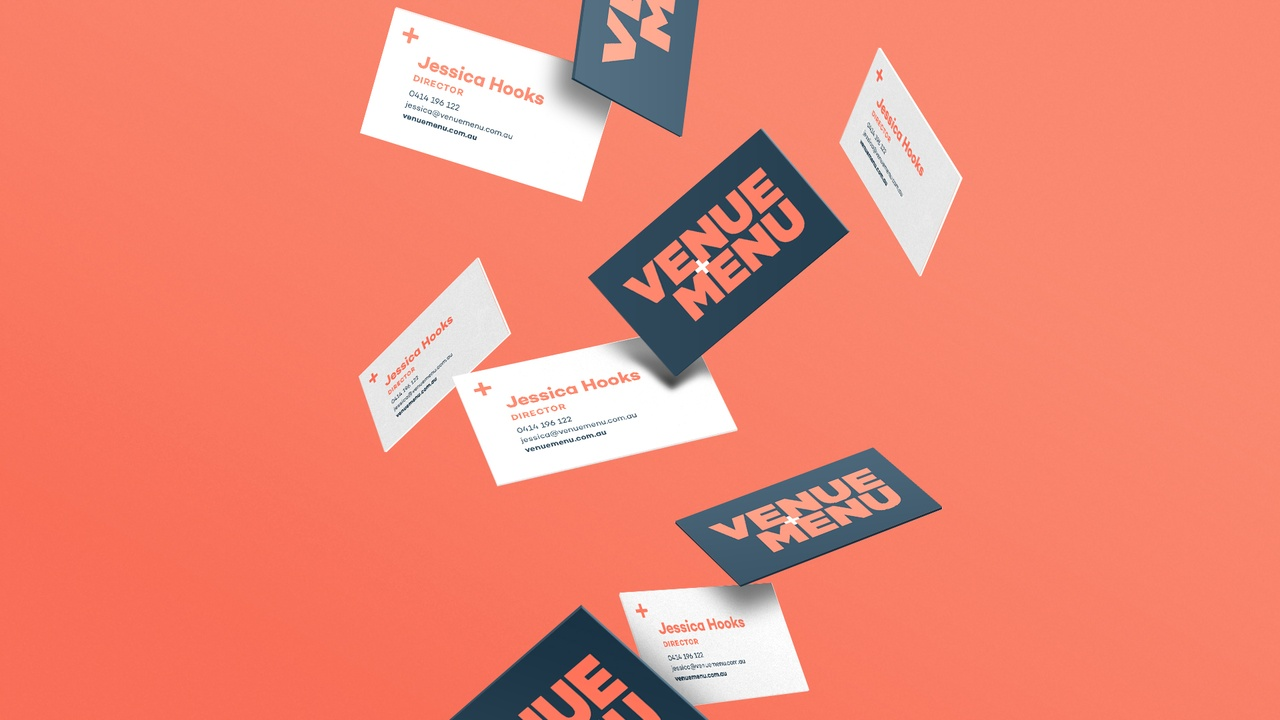 Venue Menu Business Cards