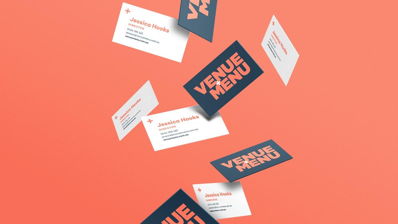 Venue Menu Business Cards