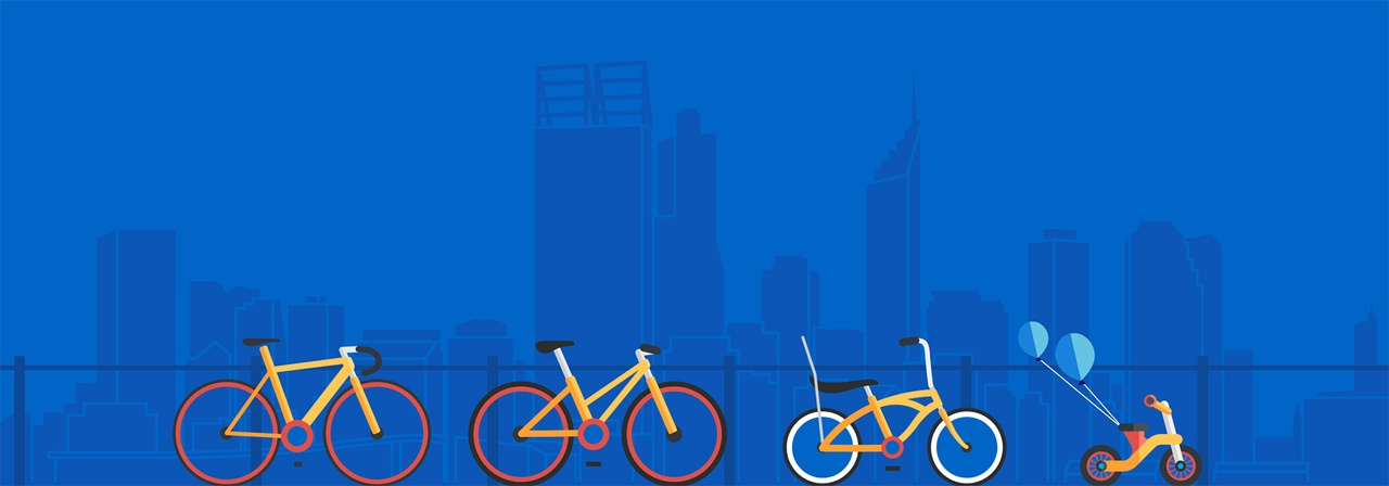 Freeway Bike Hike - Family Friendly Graphics