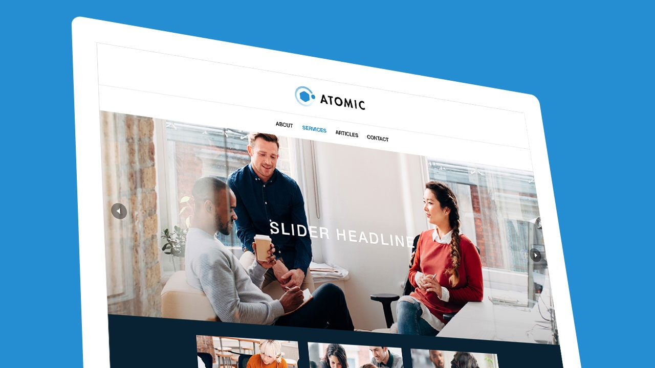 Site themes designed to work for all sorts of businesses