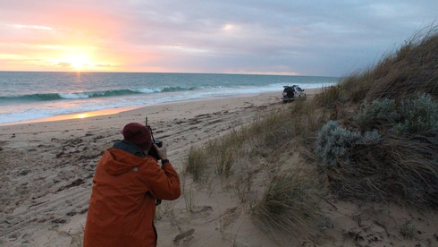 Photo Shooting 4WD on the beach for Anytime Adventures