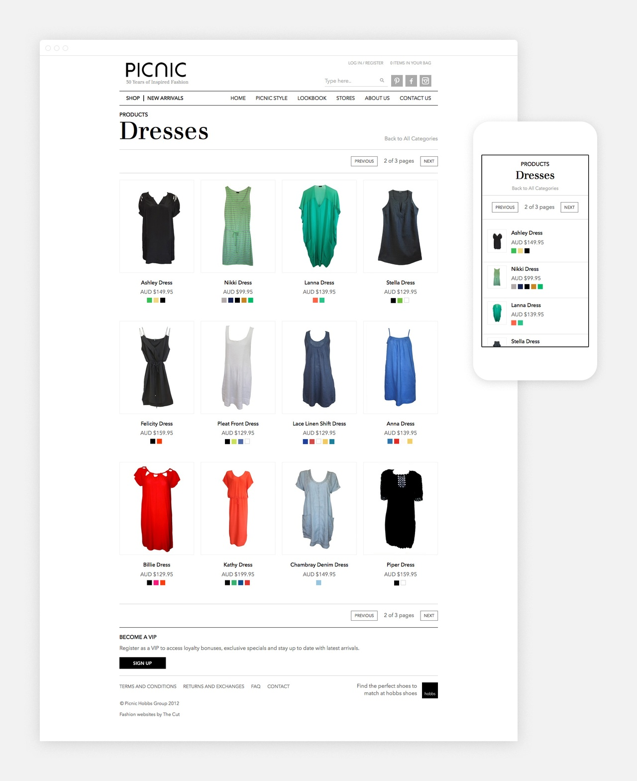 Website - Product Category Page